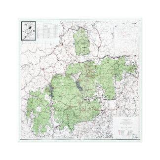 Impressão Em Canvas Mapa do vintage das montanhas brancas