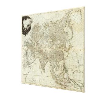 Impressão Em Canvas Mapa do vintage de Ásia (1757)