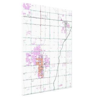 Impressão Em Canvas Mapa do vintage de Chandler & de Gilbert Arizona