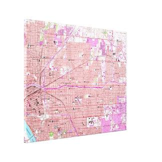 Impressão Em Canvas Mapa do vintage de Tulsa Oklahoma (1954)