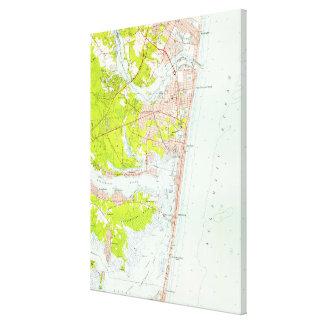 Impressão Em Canvas Mapa do vintage do ponto NJ agradável (1953)