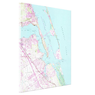 Impressão Em Canvas Mapa do vintage do porto St Lucie Entrada (1948)
