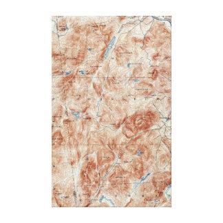 Impressão Em Canvas Mapa topográfico de New York do lago vintage