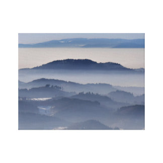 Impressão Em Canvas Mar de montanhas nevoentas