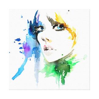 Impressão Em Canvas Marcagem com ferro quente colorida da composição