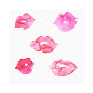 Impressão Em Canvas Marcagem com ferro quente cor-de-rosa da