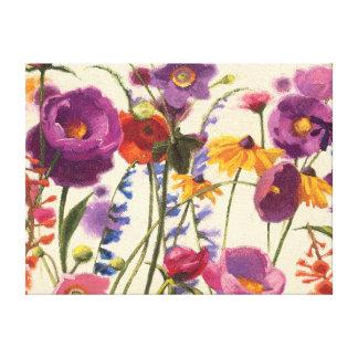 Impressão Em Canvas Melodia roxa e alaranjada da papoila