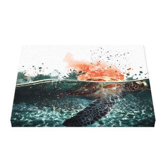 Impressão Em Canvas Mergulhador do mar