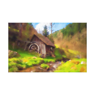 Impressão Em Canvas Moinho da Floresta Negra