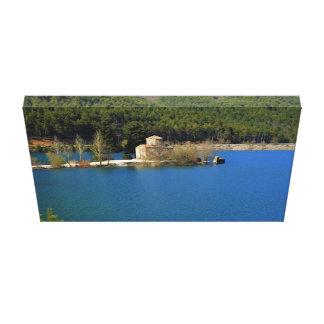 Impressão Em Canvas Monastério no doxa do lago, piscina