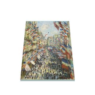 Impressão Em Canvas Monet 1878 a rua Montorgueil em Paris