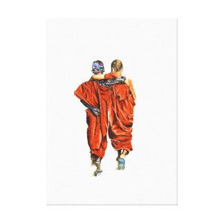 Impressão Em Canvas Monges budistas