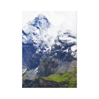 Impressão Em Canvas Montanha nos cumes suíços