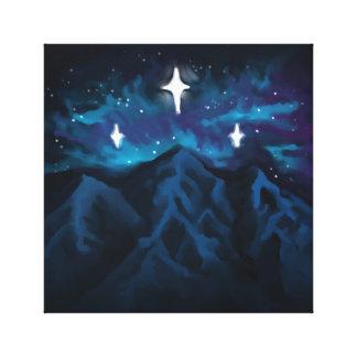 Impressão Em Canvas Montanhas na luz das estrelas
