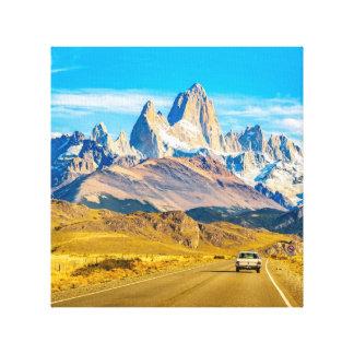 Impressão Em Canvas Montanhas nevado de Andes, EL Chalten, Argentina