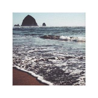 Impressão Em Canvas Monte de feno na costa de Oregon