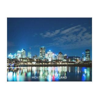 Impressão Em Canvas Montréal em a noite