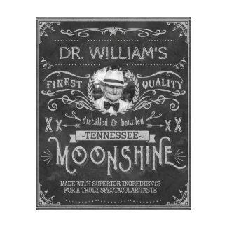 Impressão Em Canvas Moonshine cinzas do costume do vintage da medicina