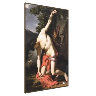 Impressão Em Canvas Morte do santo Sebasian