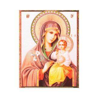 Impressão Em Canvas Mother of God Russian Icon