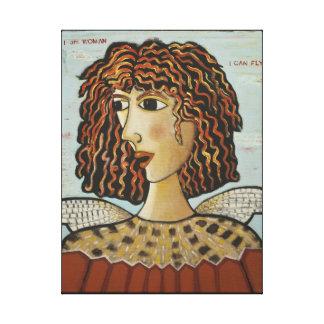 Impressão Em Canvas Mulher do Am do Impressão-Eu das canvas, eu posso