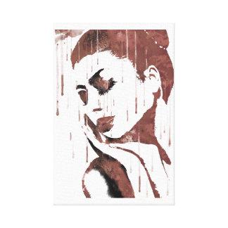 Impressão Em Canvas Mulher triste