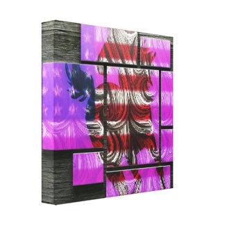Impressão Em Canvas Mustang americano
