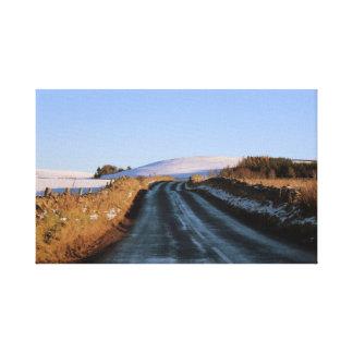 Impressão Em Canvas Na estrada em Scotland