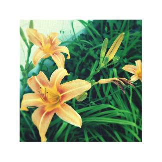 Impressão Em Canvas Na flor