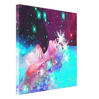 Impressão Em Canvas Nadar em um sonho cósmico