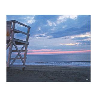 Impressão Em Canvas Nascer do sol com suporte do Lifeguard