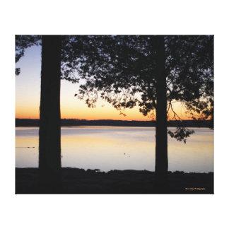 Impressão Em Canvas Nascer do sol do lago