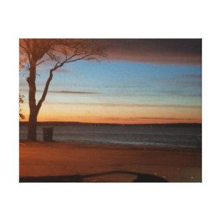 Impressão Em Canvas Nascer do sol do manganês sobre o lago Detroit