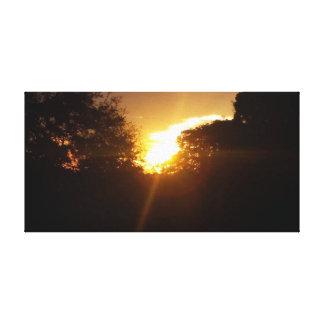 Impressão Em Canvas nascer do sol dourado
