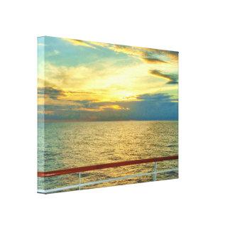 Impressão Em Canvas Nascer do sol marinho