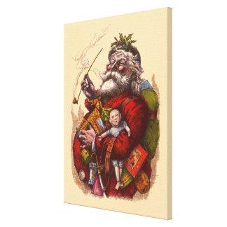 Impressão Em Canvas Natal vintage, brinquedos da tubulação de Papai