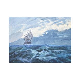 Impressão Em Canvas Navio