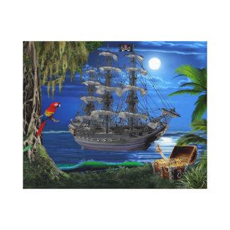 Impressão Em Canvas Navio de pirata enluarada Mystical