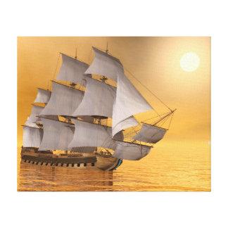 Impressão Em Canvas Navio mercante velho - 3D rendem