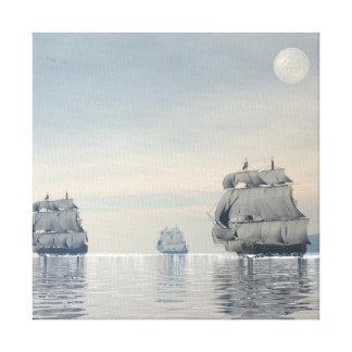 Impressão Em Canvas Navios velhos no oceano - 3D rendem