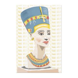 Impressão Em Canvas Nefertiti e o ouro telharam o Cartouche