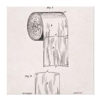 Impressão Em Canvas No. 465.588 da patente do papel higiénico por S.