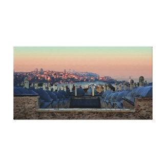 Impressão Em Canvas Noite de Istambul - esboço de Oli