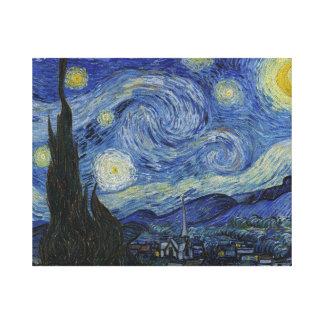 Impressão Em Canvas Noite estrelado por Vincent van Gogh