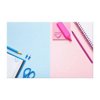 Impressão Em Canvas Notas pegajosas coloridas no fundo Pastel