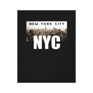 Impressão Em Canvas Nova Iorque de NYC. Skyline. América, EUA