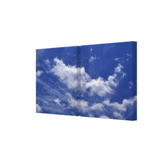 Impressão Em Canvas Nuvens do branco do céu azul
