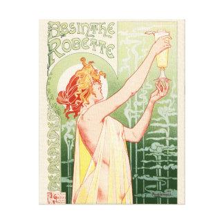 Impressão Em Canvas O absinto Robette - poster vintage do álcool