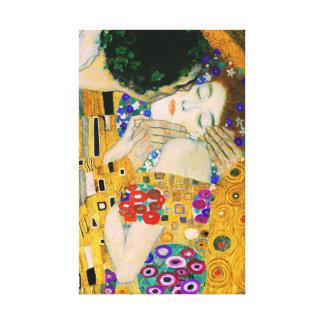 Impressão Em Canvas O beijo por Gustavo Klimt
