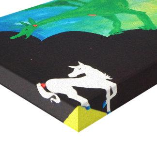 Impressão Em Canvas O cavalo & o dragão
